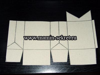 вырезанный шаблон упаковки для подарка