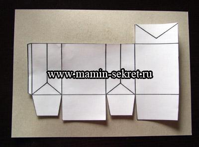 распечатываем шаблон упаковки для подарка