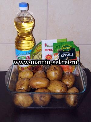 Ингредиенты для картофельных долек