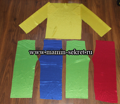 Выкройка костюма Петрушки для ребёнка