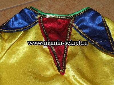 Шьём воротник для детский костюма Петрушки