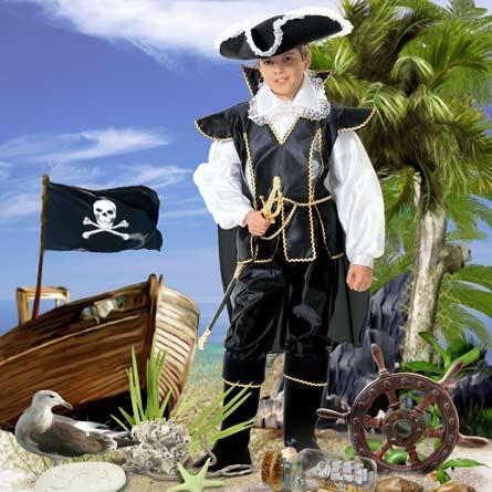 Пират, шаблон, фотошоп, шаблон костюма для фотошоп