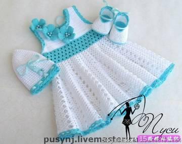 Схемы и идеи красивых детских платье связанных крючком