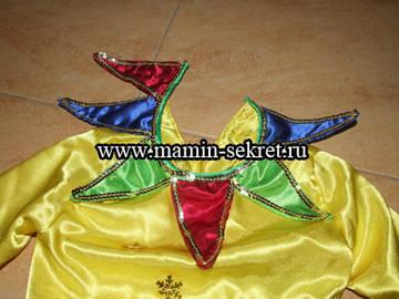Украшение воротника карнавального костюма
