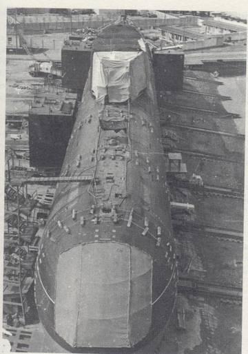 Проект 685 «Плавник» - опытная глубоководная торпедная атомная подводная лодка DROFY