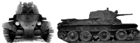 БТ-7 - лёгкий колесно-гусеничный танк QCXxl