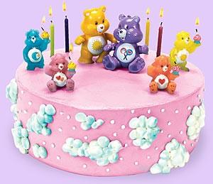 """Украшение торта по мультфильму """"Заботливые мишки """"  care bears"""