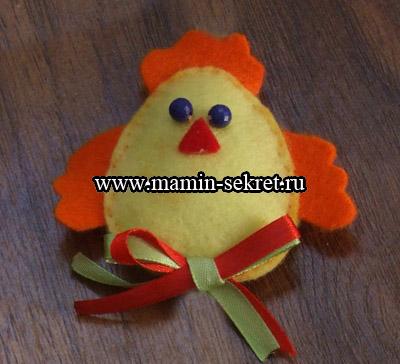 готовый цыплёнок из фетра