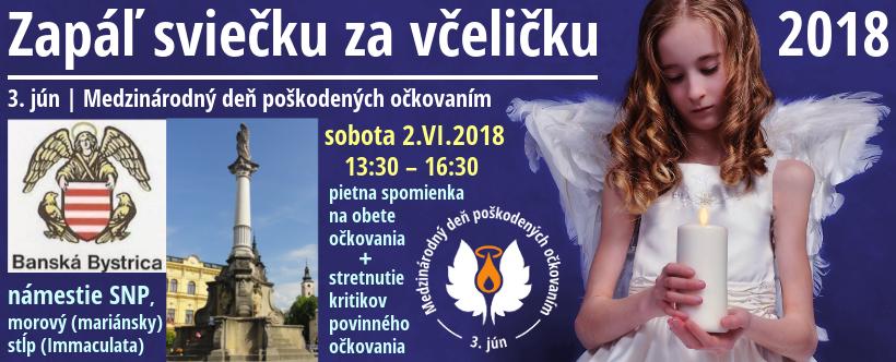 obrazová upútavka na podujatie Zapáľ sviečku za včeličku v Banskej Bystrici 2.VI.2018