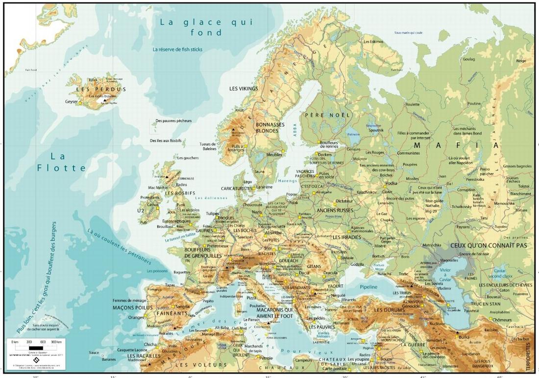 В Чехии - шлюхи, в Польше - печи для евреев, а в России – мафия: скандал вокруг карты арт-художницы из Валлонии