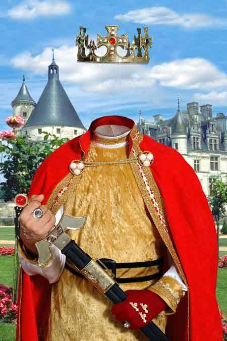 Король - детский виртуальный костюм для фотошопа, скачать